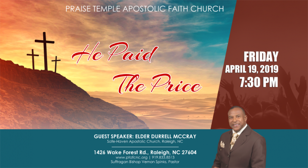 Praise Temple Good Friday Flyer 040719